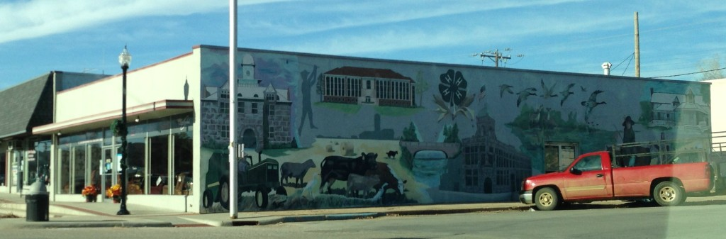 Tishomingo, Oklahoma, buildings, painting