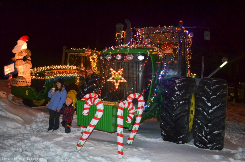 Tractor Parade, Christmas Parade, Dairy Farmer Parade, St. Albans, Vermont, St. Albans Co-op