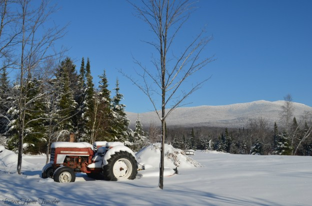 Tractor, Vermont, Snow, Winter Hike,