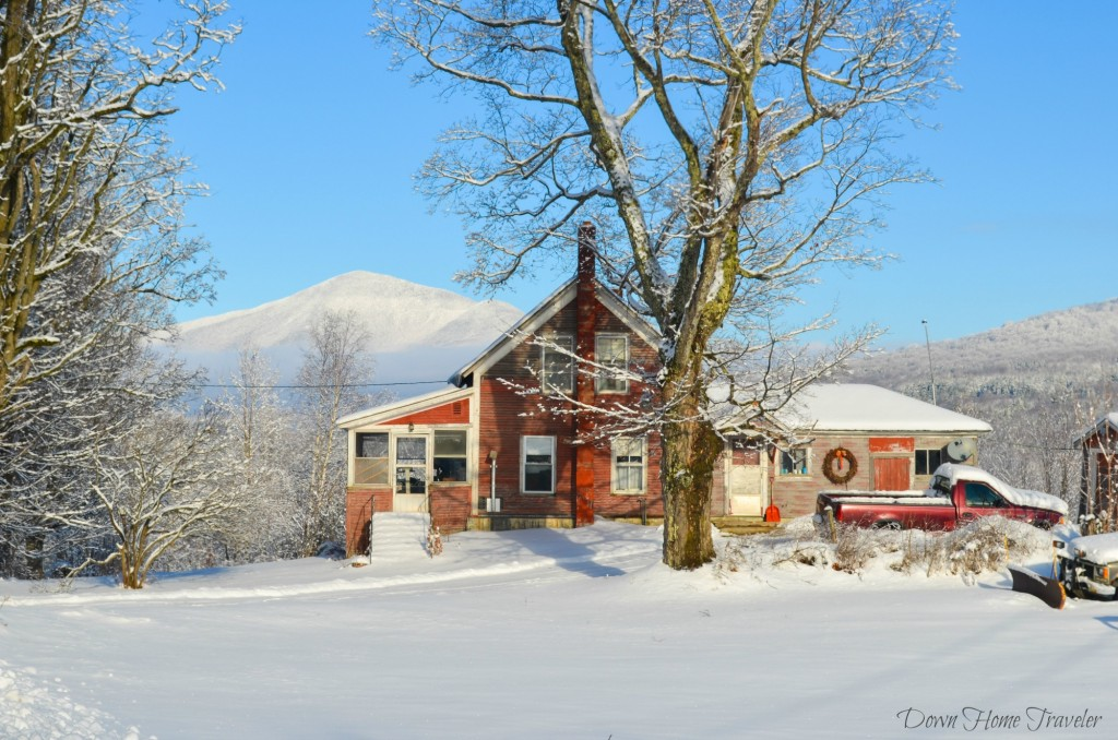 Farmhouse, Vermont, Snow, Winter Hike,