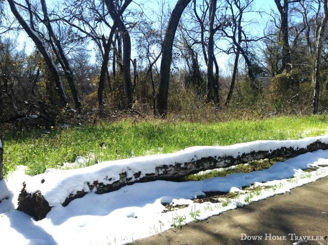 Snow, Arlington Texas,