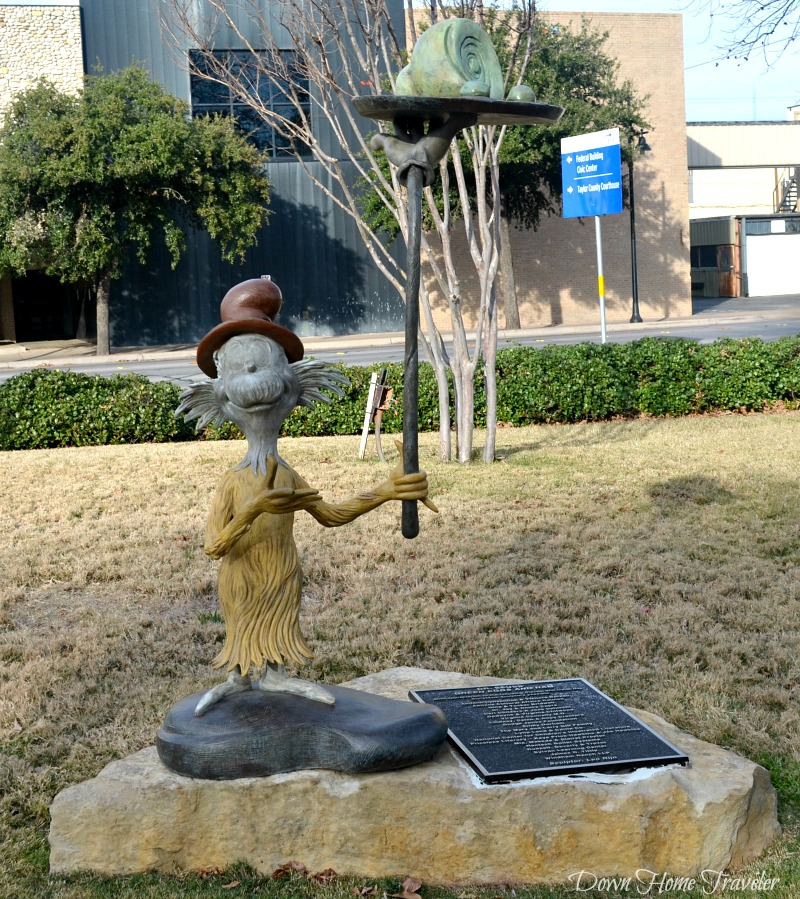 Dr. Seuss, Everman Park, Abilene Texas, Storybook Sculpture,  Green Eggs and Ham