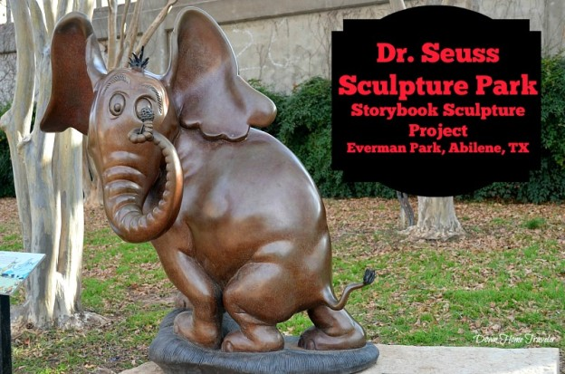 Dr. Seuss, Everman Park, Abilene Texas, Storybook Sculpture,
